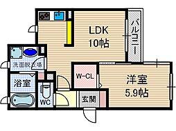 さくら1番館[1階]の間取り