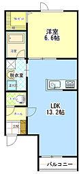 ラ・パーチェ529[2階]の間取り