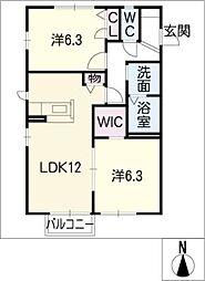 マルベリーコート[2階]の間取り