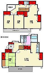 [一戸建] 福岡県福岡市南区西長住2丁目 の賃貸【/】の間取り