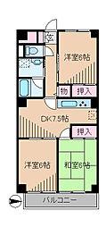 KDX武蔵中原レジデンス[5階]の間取り