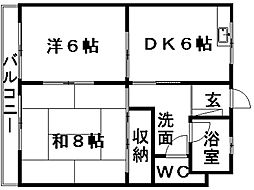 マンハイム伊藤II[1階]の間取り