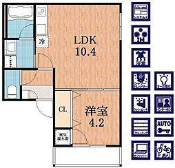 F maison COAST[2階]の間取り