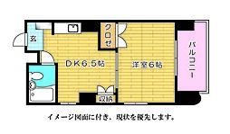 広島県広島市西区打越町の賃貸マンションの間取り