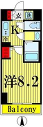 都営浅草線 本所吾妻橋駅 徒歩6分の賃貸マンション 6階1Kの間取り