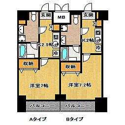 エレンシアK[4階]の間取り