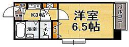 福岡県福岡市中央区桜坂3の賃貸マンションの間取り