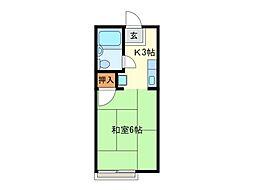 エポックエゲ3[1階]の間取り