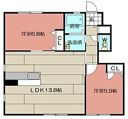 プレミール21 D棟[102号室]の間取り