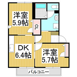 サンシャイン杉山D棟[2階]の間取り