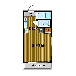ファイン山井[3階]の間取り