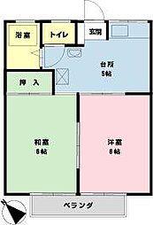 千葉県浦安市海楽2の賃貸アパートの間取り