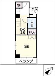 アーバン岡田[3階]の間取り