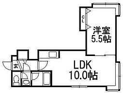 北海道札幌市白石区東札幌二条2の賃貸アパートの間取り