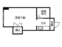 クイーン南5条[2階]の間取り