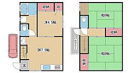 [一戸建] 兵庫県神戸市灘区下河原通2丁目 の賃貸【/】の間取り