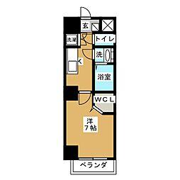 仮)プリミエール太閤通 3階1Kの間取り