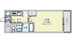 Osaka Metro御堂筋線 江坂駅 徒歩7分の賃貸マンション 11階1Kの間取り