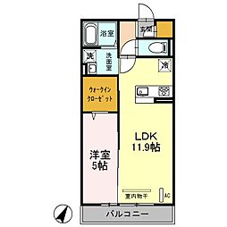 (仮)D-roomふじみ野4丁目[2階]の間取り