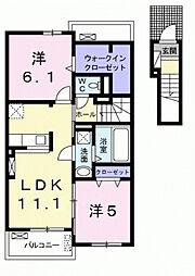 ステラ新田[2階]の間取り