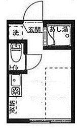 東京都新宿区喜久井町の賃貸アパートの間取り