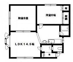 HOKUEI4.1(ホクエイ)[101号室]の間取り