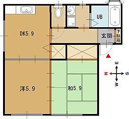 メゾン仁平II[1階]の間取り