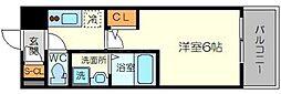 エスリード新大阪グランゲートサウス 6階1Kの間取り