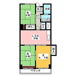 スカイハイツトヨダ[1階]の間取り