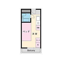 厚木サンハイツ[1階]の間取り