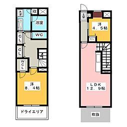 愛知県名古屋市瑞穂区彌富町字月見ケ岡の賃貸マンションの間取り