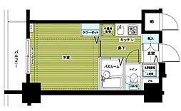 アヴァンティーク銀座2丁目参番館 2階1Kの間取り