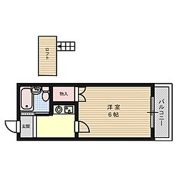 アルデール富田[1階]の間取り