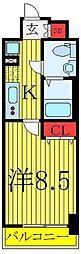 東京メトロ有楽町線 東池袋駅 徒歩4分の賃貸マンション 4階1Kの間取り