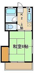 コーポ大塚[2階]の間取り
