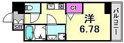 アリビオ立花III[8階]の間取り