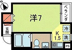 東京都杉並区成田東4丁目の賃貸マンションの間取り