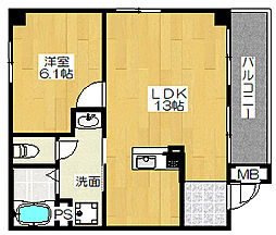 K'sアパートメント[1階]の間取り