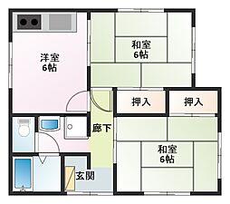 イタガキアパート[1階]の間取り