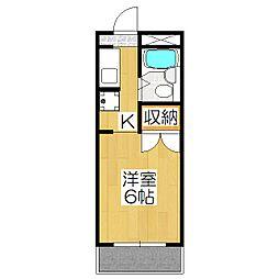 レオ倉高[307号室]の間取り