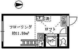 シエスタ新宿[204号室]の間取り