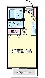 神奈川県相模原市南区大野台5丁目の賃貸アパートの間取り