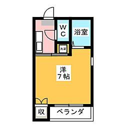 ウイング5[2階]の間取り