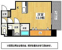 福岡県北九州市小倉北区萩崎町の賃貸マンションの間取り