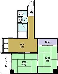 菊川マンション[6階]の間取り