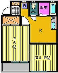 ビューエステート2[1階]の間取り