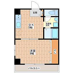 R-レジデンス平野[105号室]の間取り