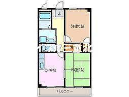 サニーホーム[2階]の間取り