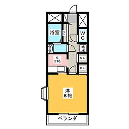 ウインドコート大渡[4階]の間取り