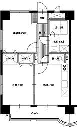 松橋マンション[3階]の間取り